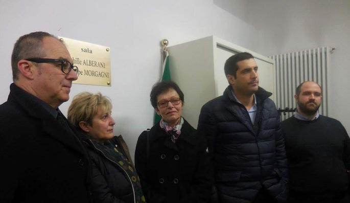 """Sala per Achille Alberani e Giuseppe """"Pino"""" Morgagni"""